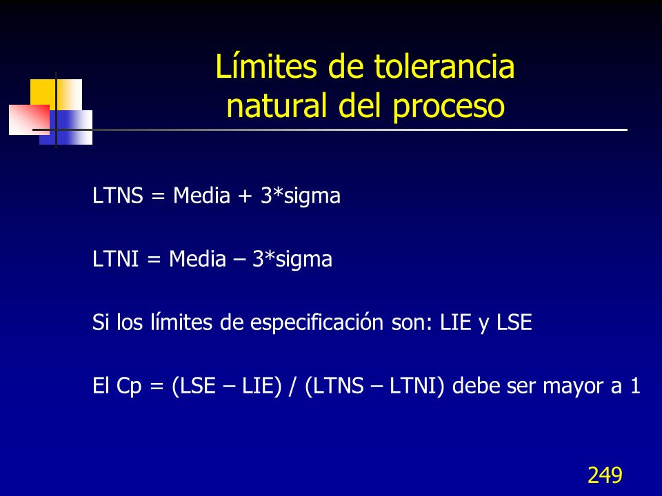 Límites de tolerancia natural del proceso