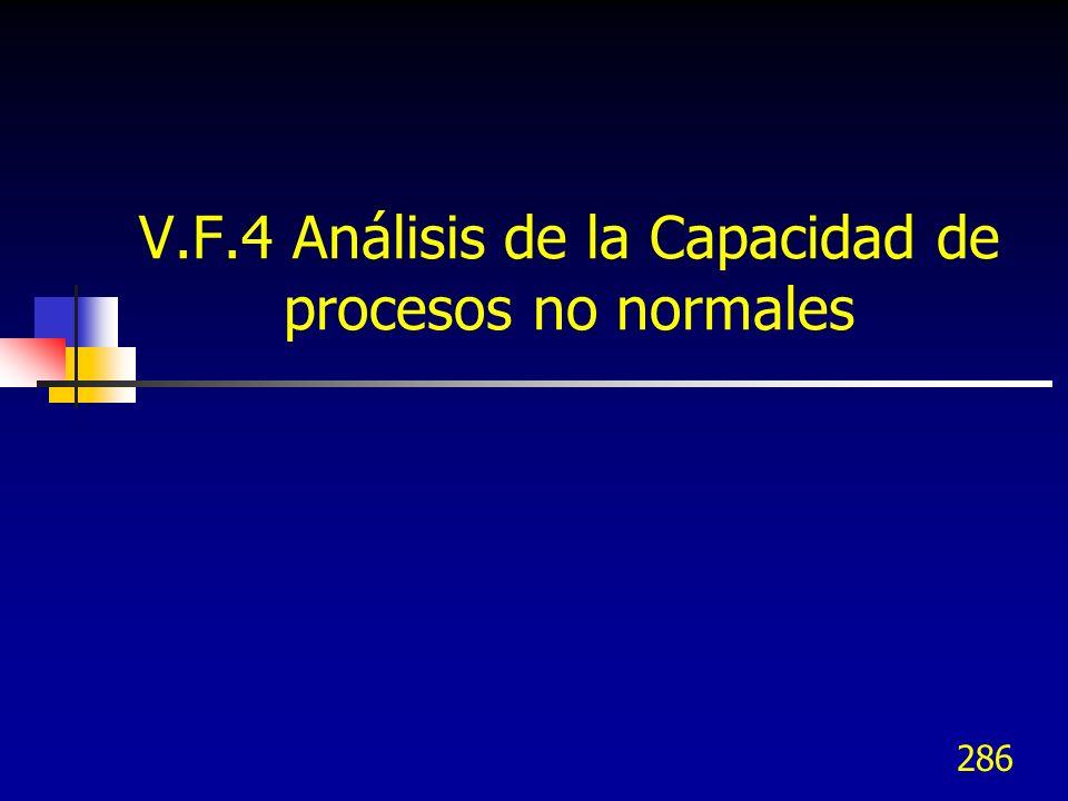 V.F.4 Análisis de la Capacidad de procesos no normales