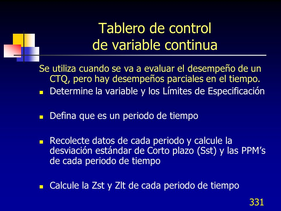 Tablero de control de variable continua
