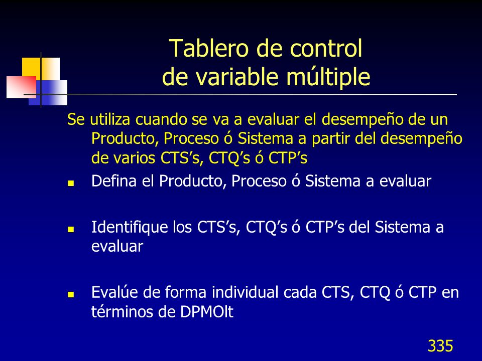 Tablero de control de variable múltiple