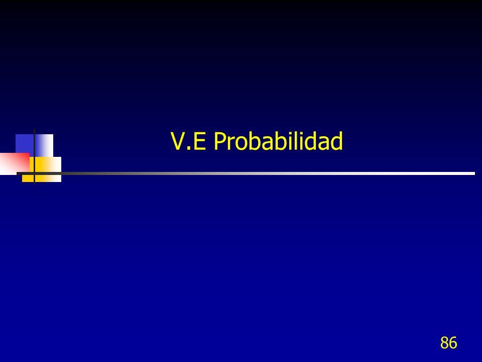 V.E Probabilidad