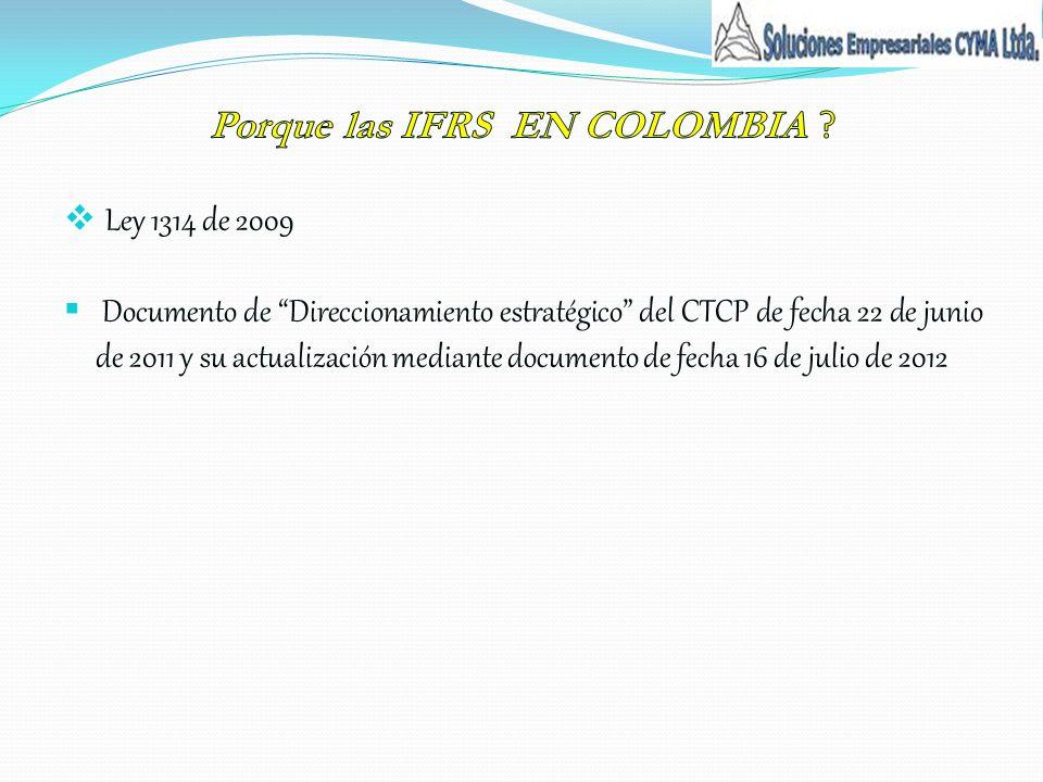 Porque las IFRS EN COLOMBIA