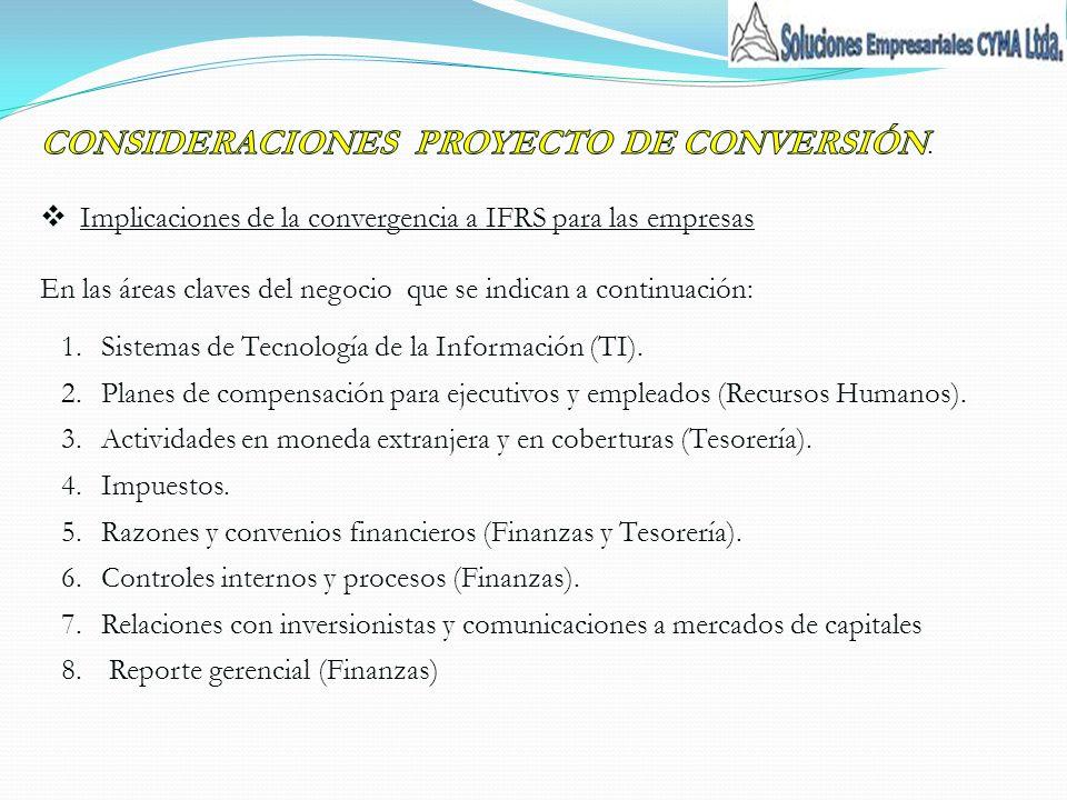 CONSIDERACIONES PROYECTO DE CONVERSIÓN.