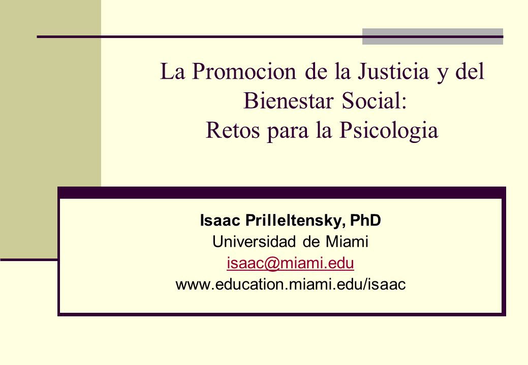 Isaac Prilleltensky, PhD