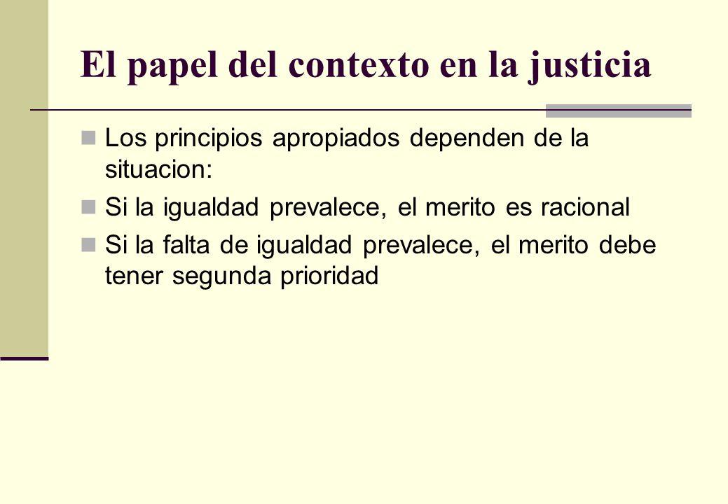 El papel del contexto en la justicia