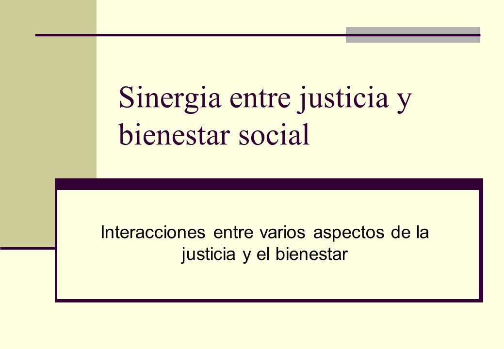 Sinergia entre justicia y bienestar social