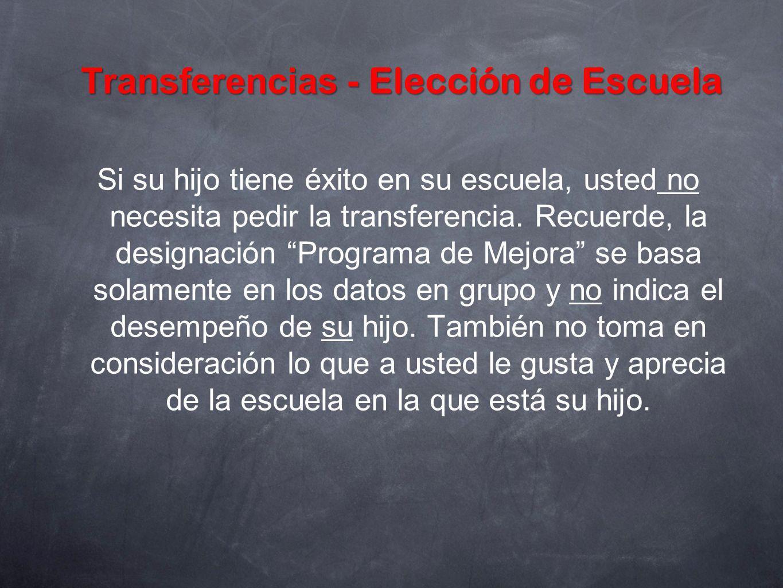 Transferencias - Elección de Escuela