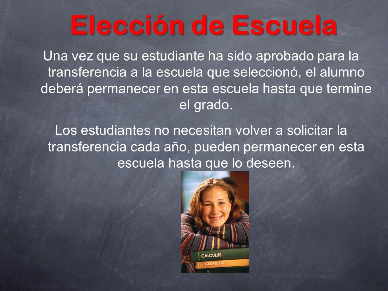 Elección de Escuela
