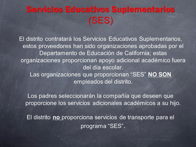 Servicios Educativos Suplementarios (SES)
