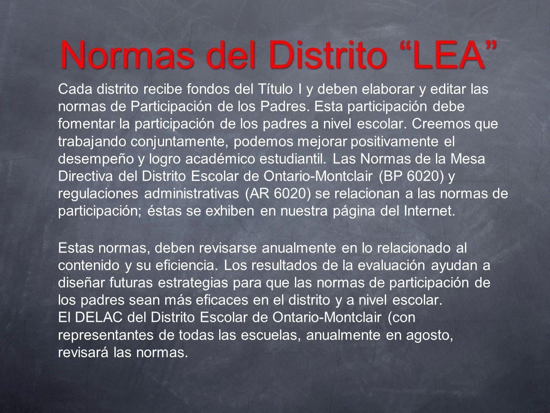 Normas del Distrito LEA
