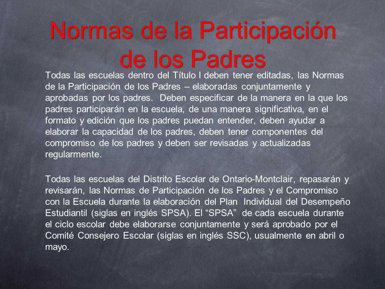 Normas de la Participación de los Padres