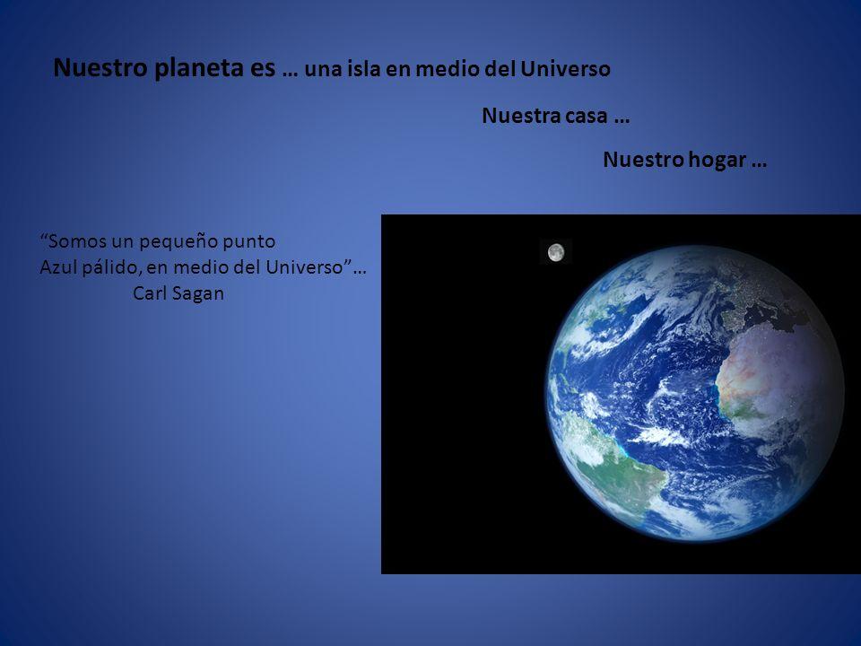 Nuestro planeta es … una isla en medio del Universo