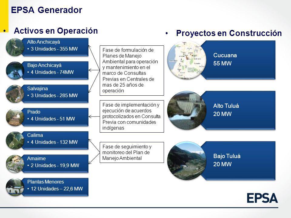 EPSA Generador Activos en Operación Proyectos en Construcción Cucuana