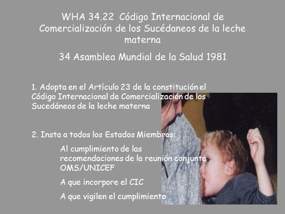 34 Asamblea Mundial de la Salud 1981