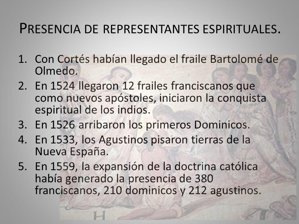 Presencia de representantes espirituales.