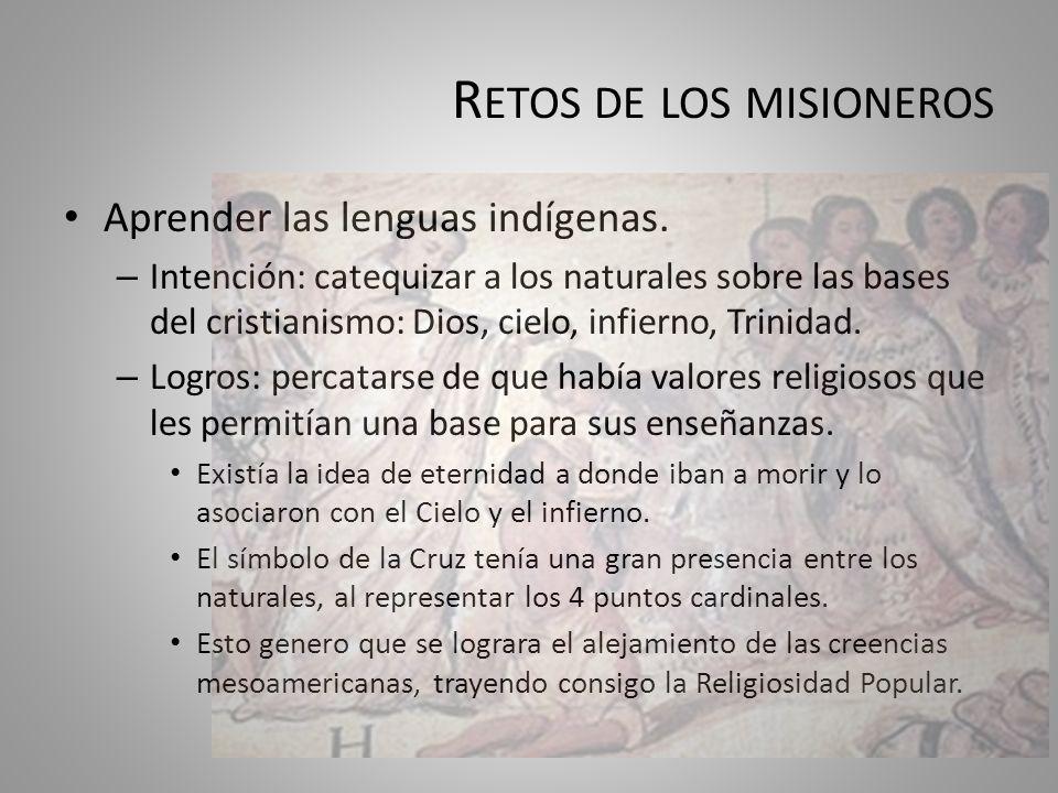 Retos de los misioneros