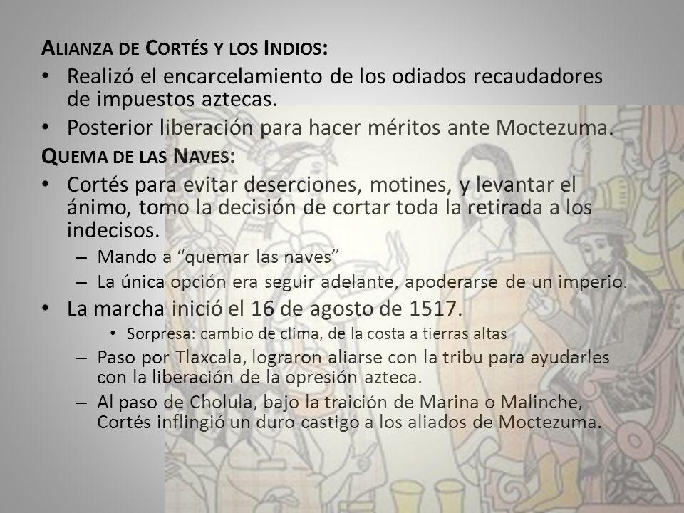 Alianza de Cortés y los Indios:
