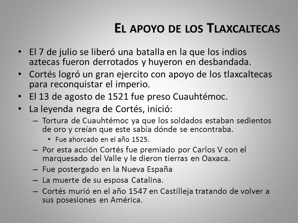 El apoyo de los Tlaxcaltecas