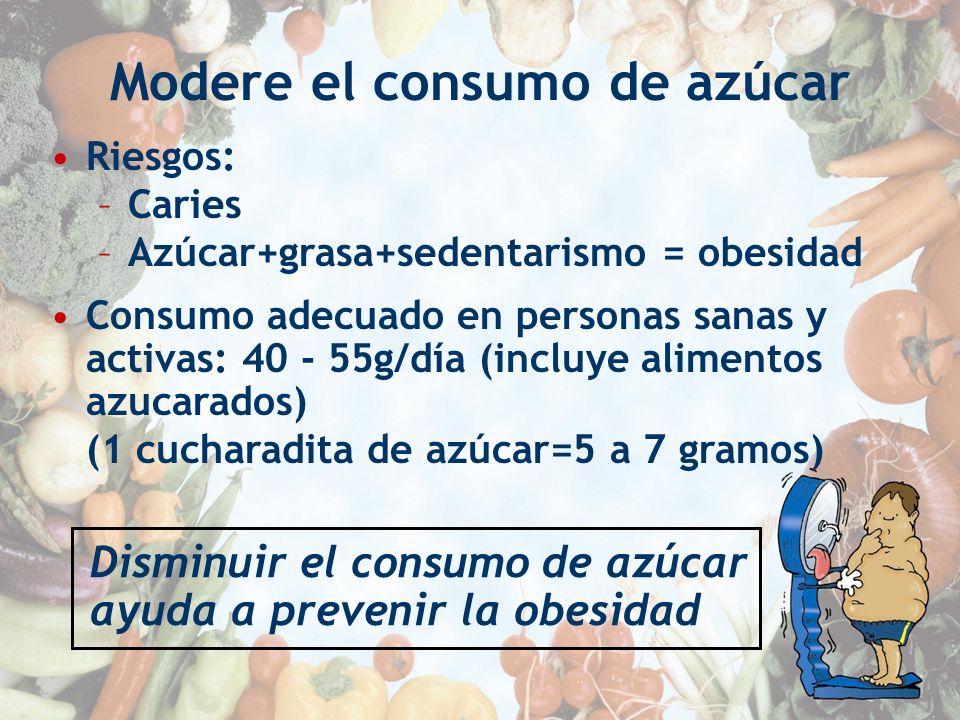Modere el consumo de azúcar