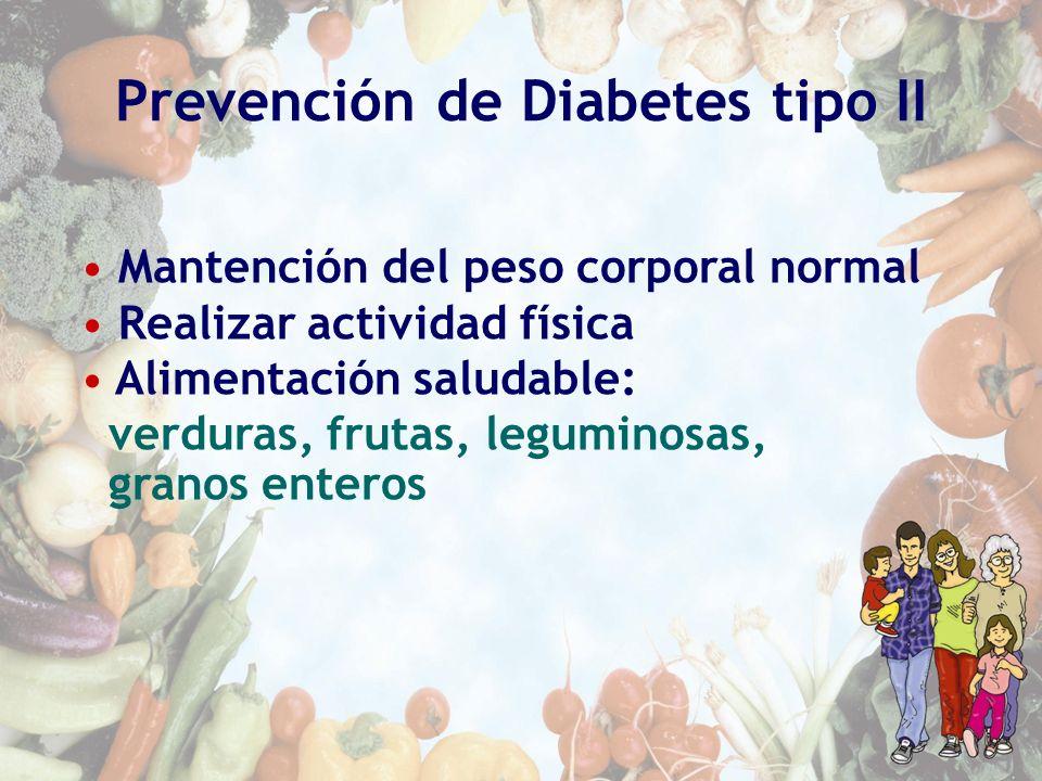 Prevención de Diabetes tipo II