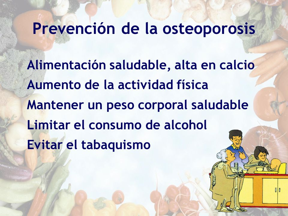 Prevención de la osteoporosis