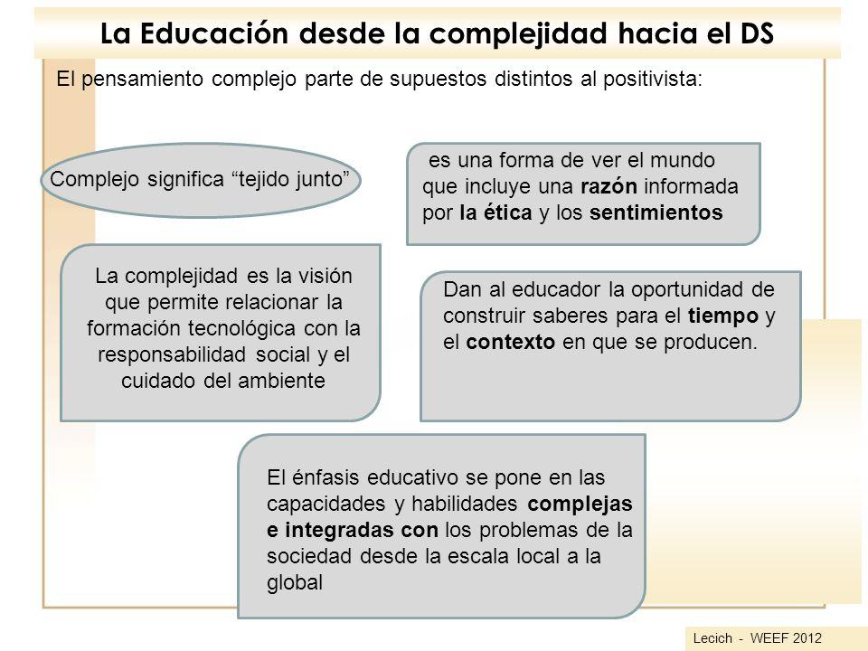 La Educación desde la complejidad hacia el DS