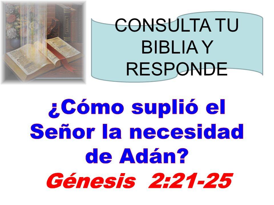 ¿Cómo suplió el Señor la necesidad de Adán