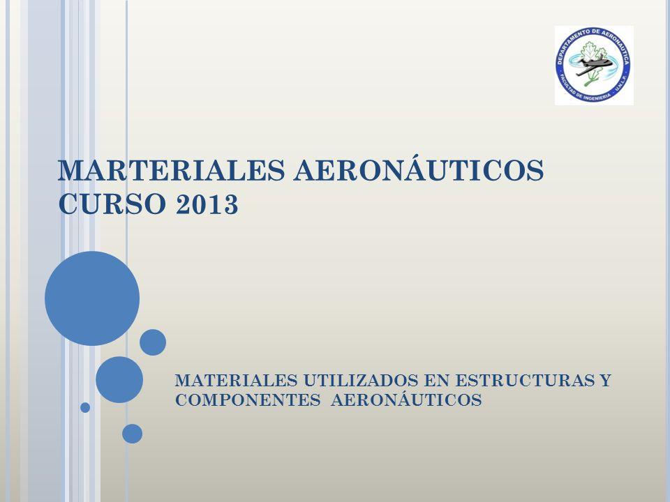 MARTERIALES AERONÁUTICOS CURSO 2013