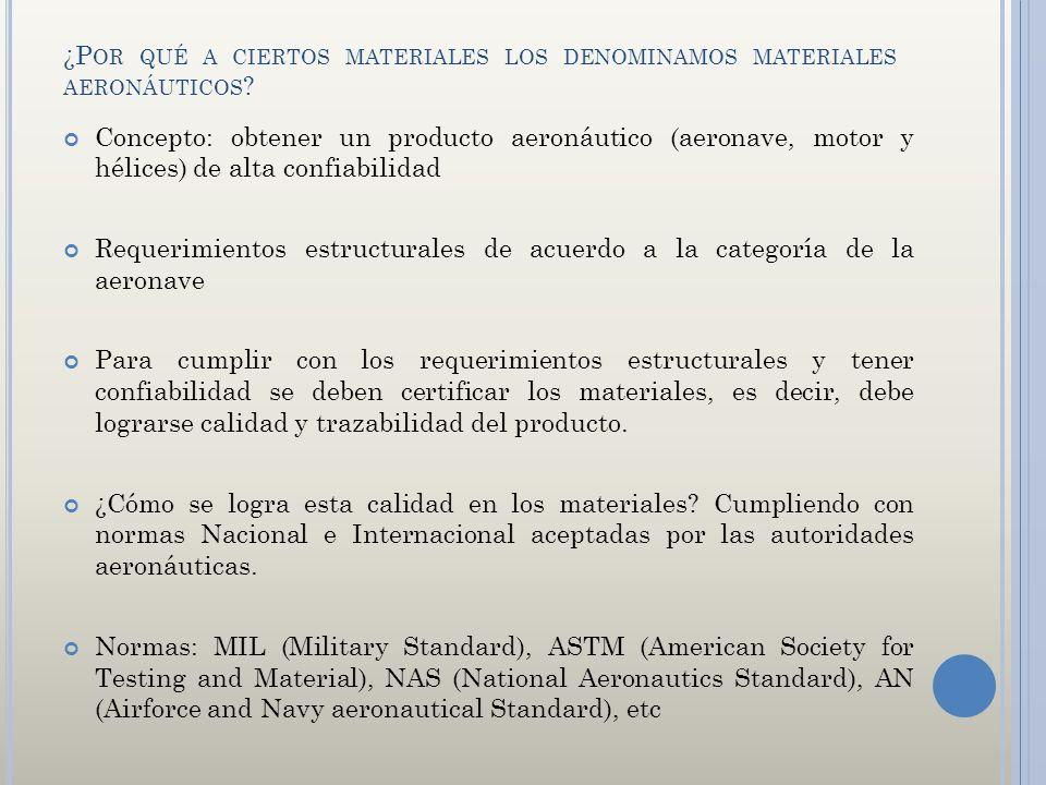 ¿Por qué a ciertos materiales los denominamos materiales aeronáuticos