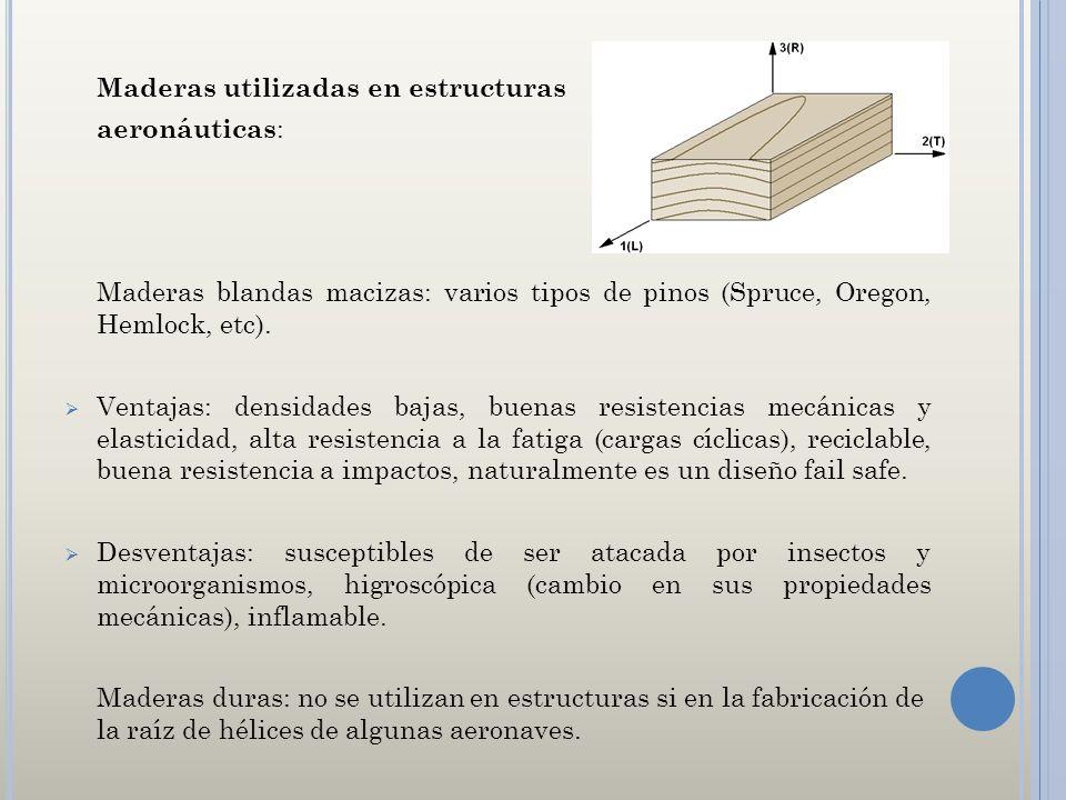 Maderas utilizadas en estructuras aeronáuticas: