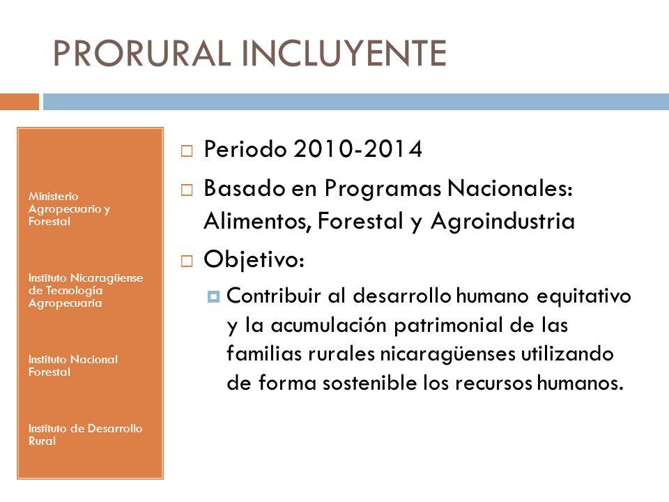 PRORURAL INCLUYENTE Periodo 2010-2014