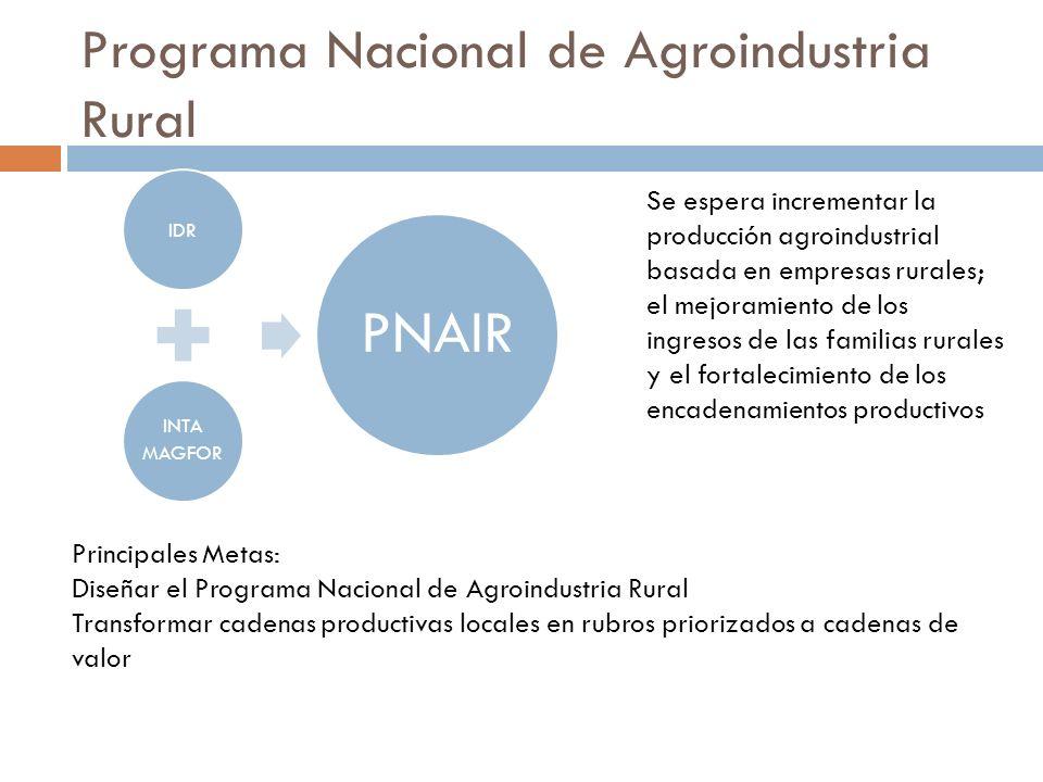 Programa Nacional de Agroindustria Rural