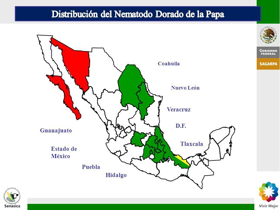 Distribución del Nematodo Dorado de la Papa