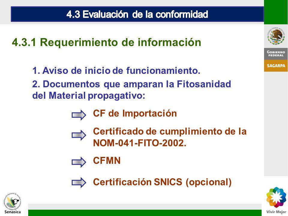 4.3 Evaluación de la conformidad