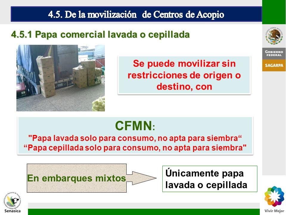 CFMN: 4.5. De la movilización de Centros de Acopio