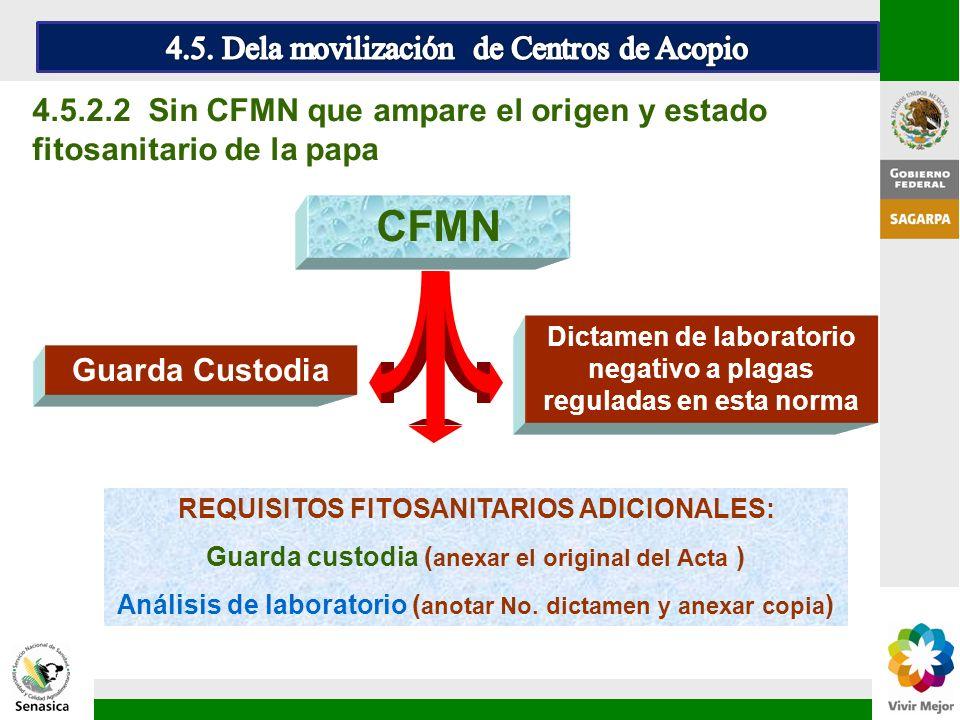 CFMN 4.5. Dela movilización de Centros de Acopio