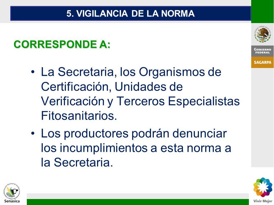 5. VIGILANCIA DE LA NORMA CORRESPONDE A: