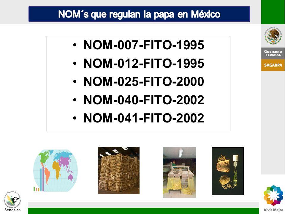 NOM´s que regulan la papa en México
