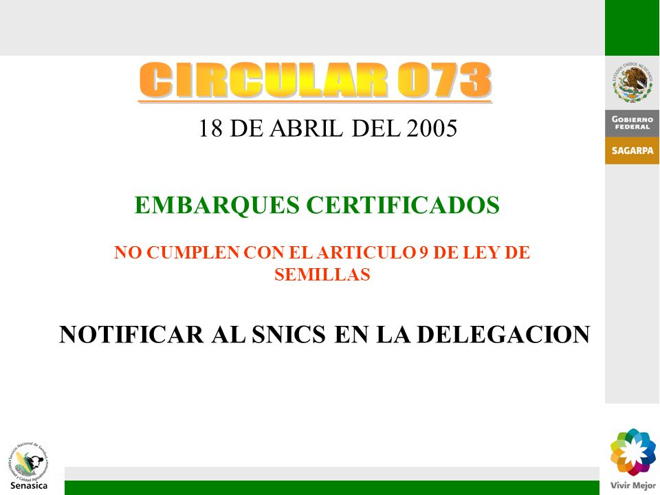 NO CUMPLEN CON EL ARTICULO 9 DE LEY DE SEMILLAS