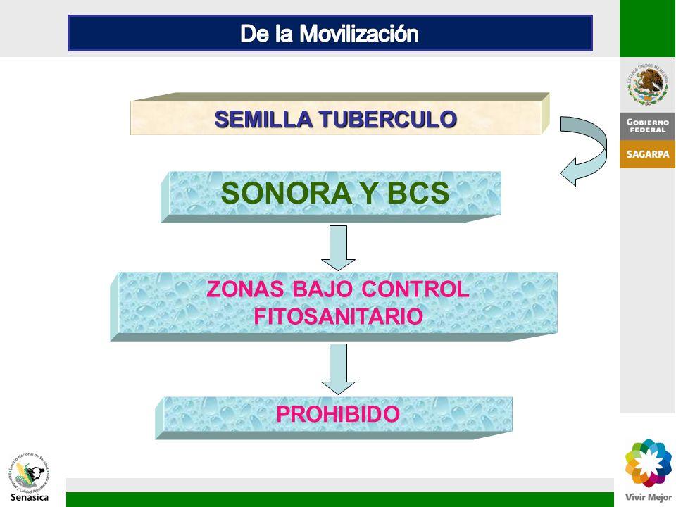 ZONAS BAJO CONTROL FITOSANITARIO