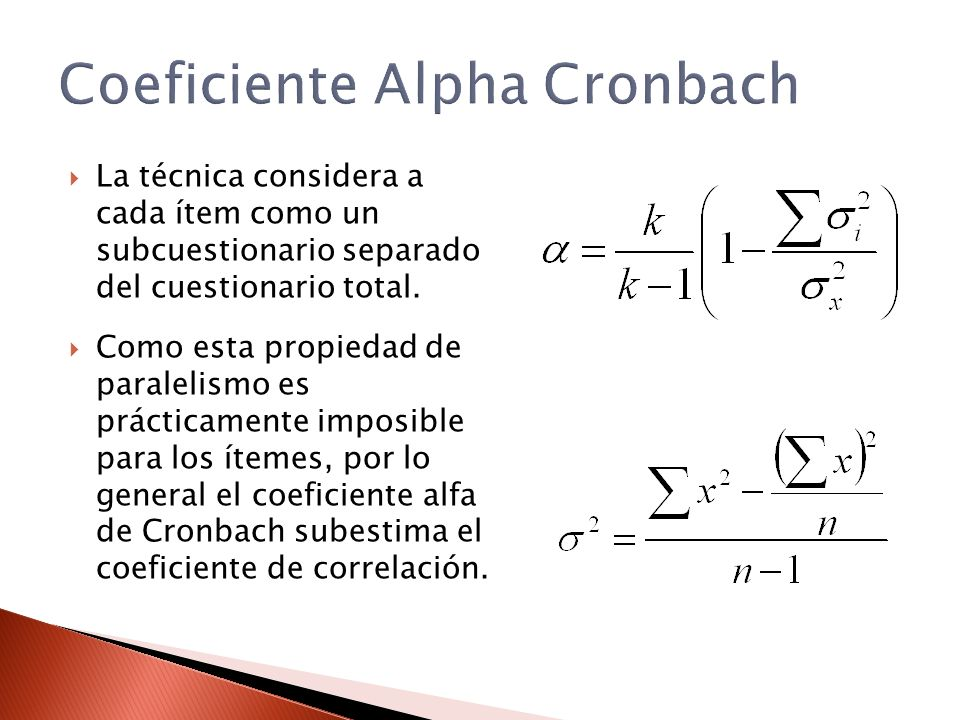 Coeficiente Alpha Cronbach