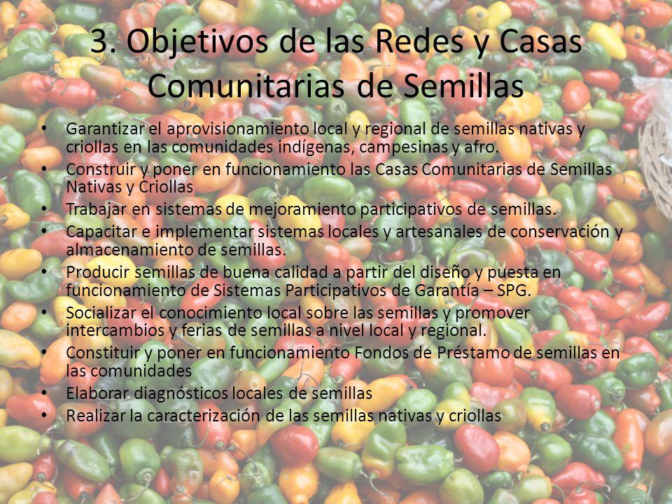 3. Objetivos de las Redes y Casas Comunitarias de Semillas