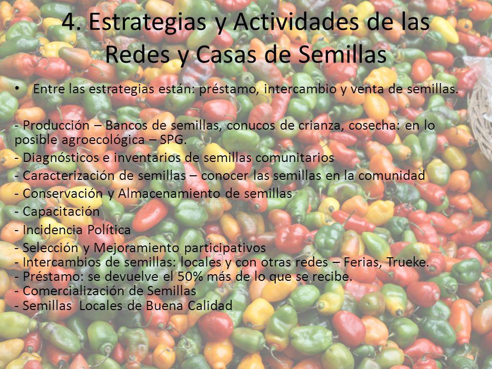 4. Estrategias y Actividades de las Redes y Casas de Semillas