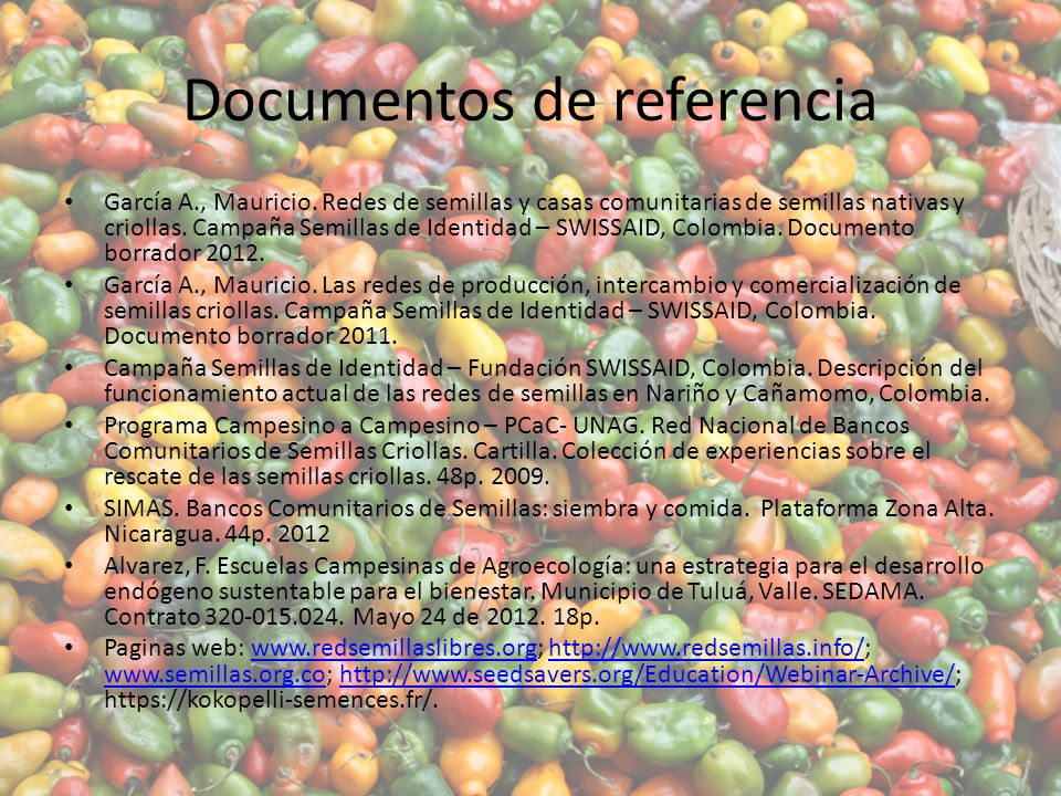 Documentos de referencia