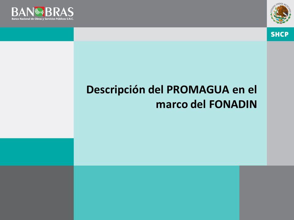 Descripción del PROMAGUA en el marco del FONADIN