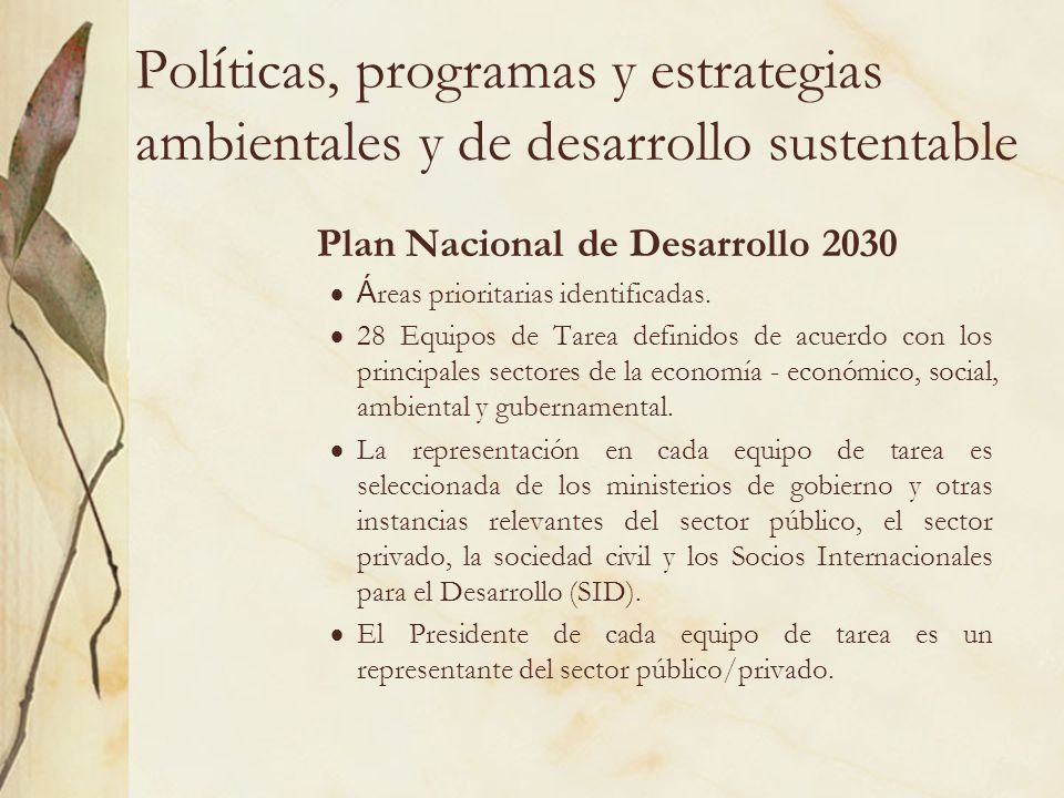 Plan Nacional de Desarrollo 2030