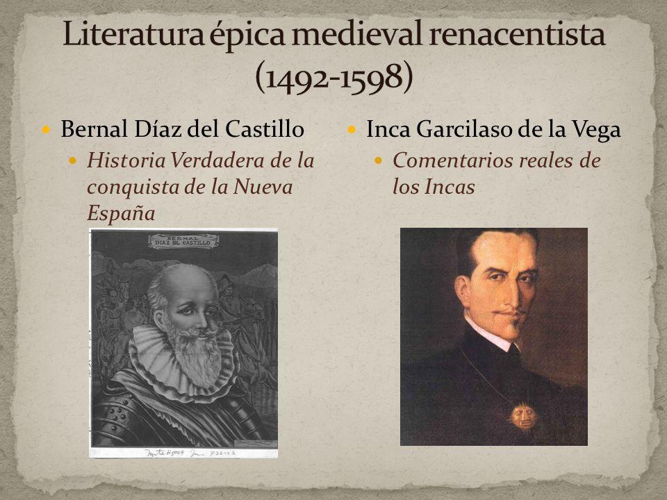 Literatura épica medieval renacentista (1492-1598)