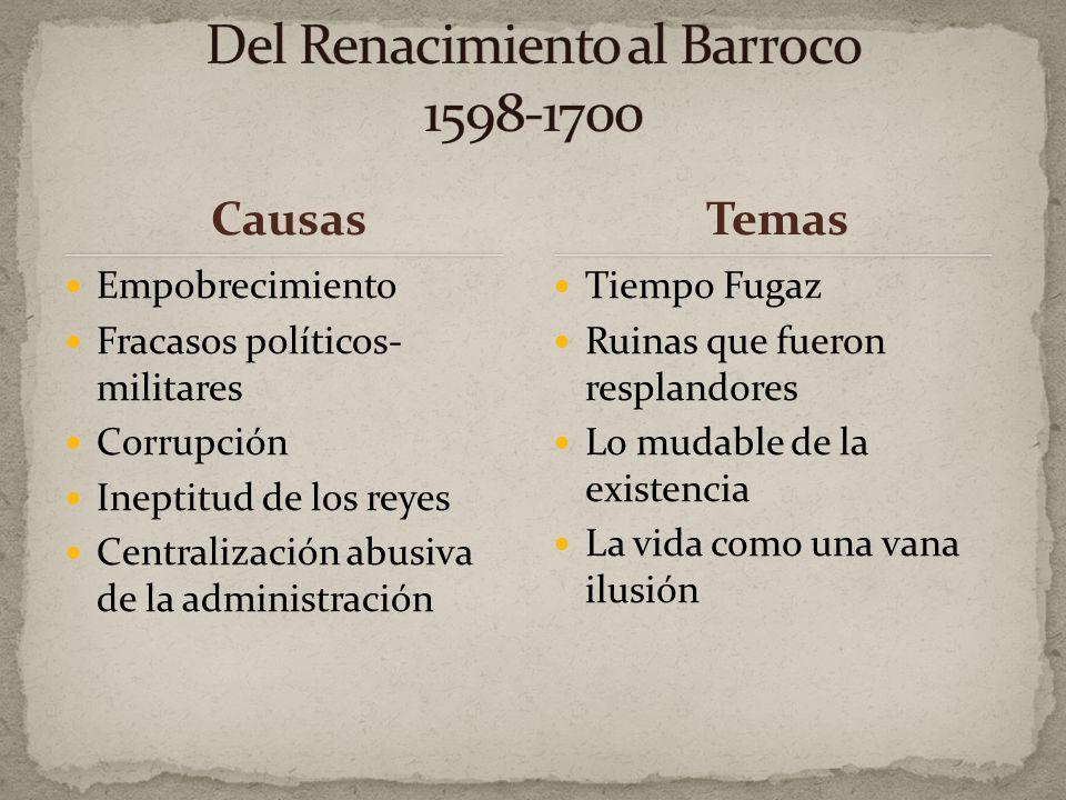 Del Renacimiento al Barroco 1598-1700