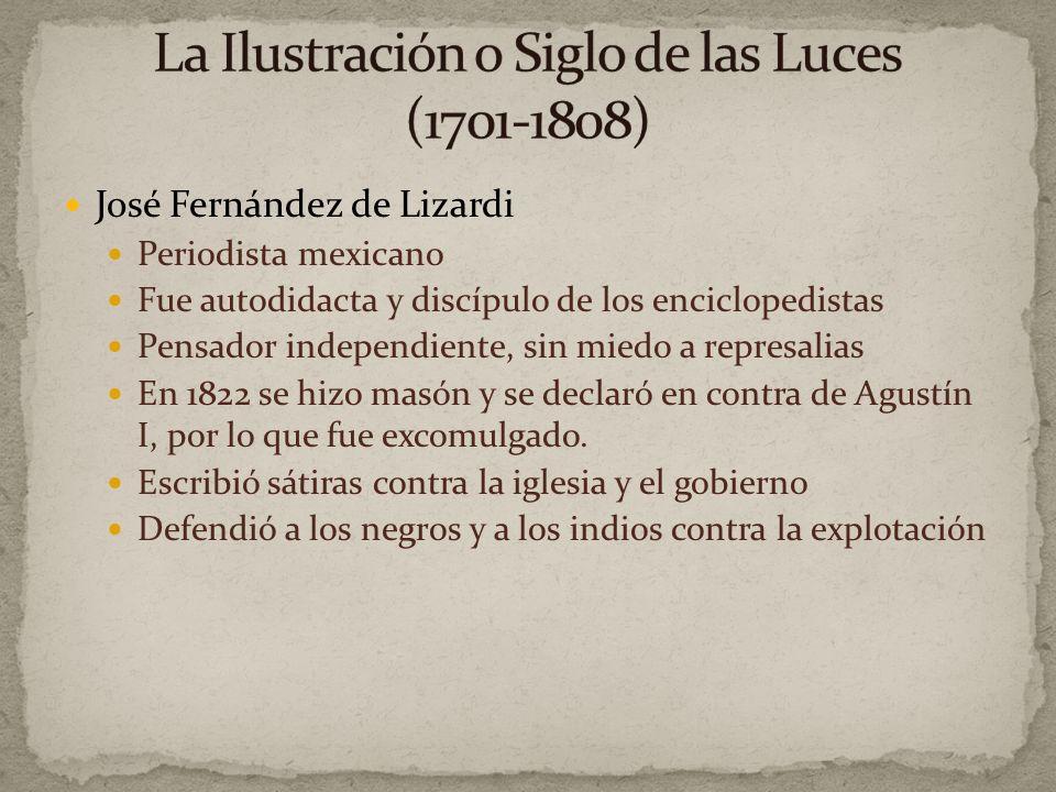 La Ilustración o Siglo de las Luces (1701-1808)