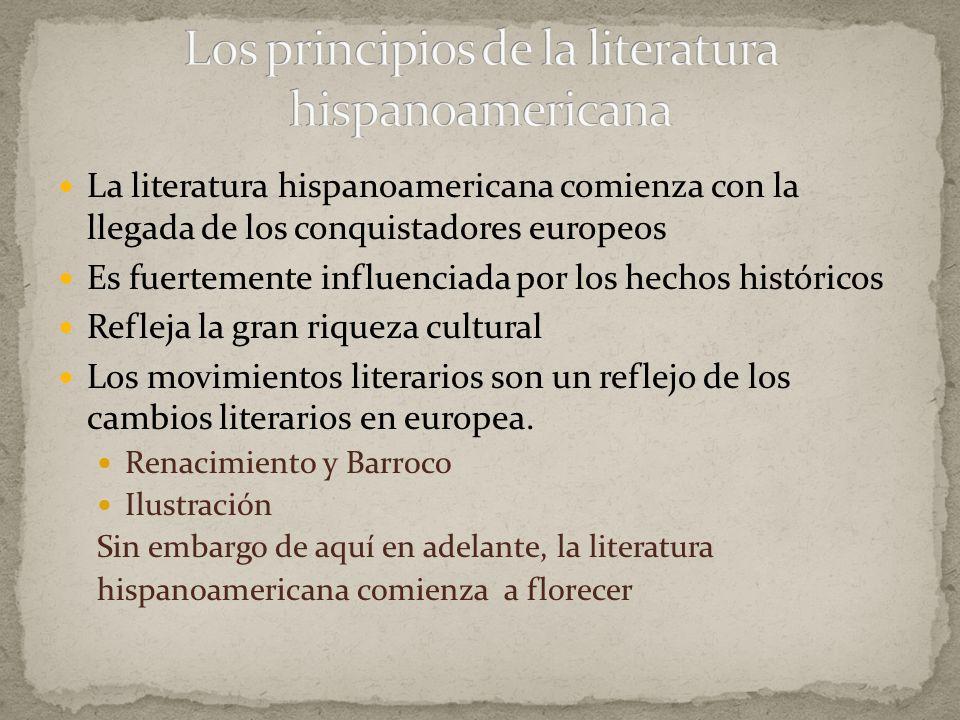 Los principios de la literatura hispanoamericana